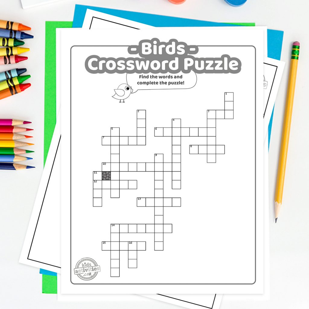Free printable crossword for kids