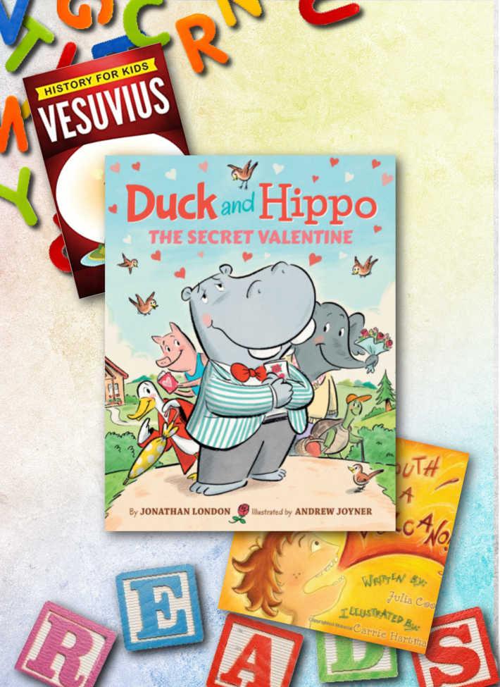 Some of our favorite letter V books! Vesuvius, Valentine, Volcano!