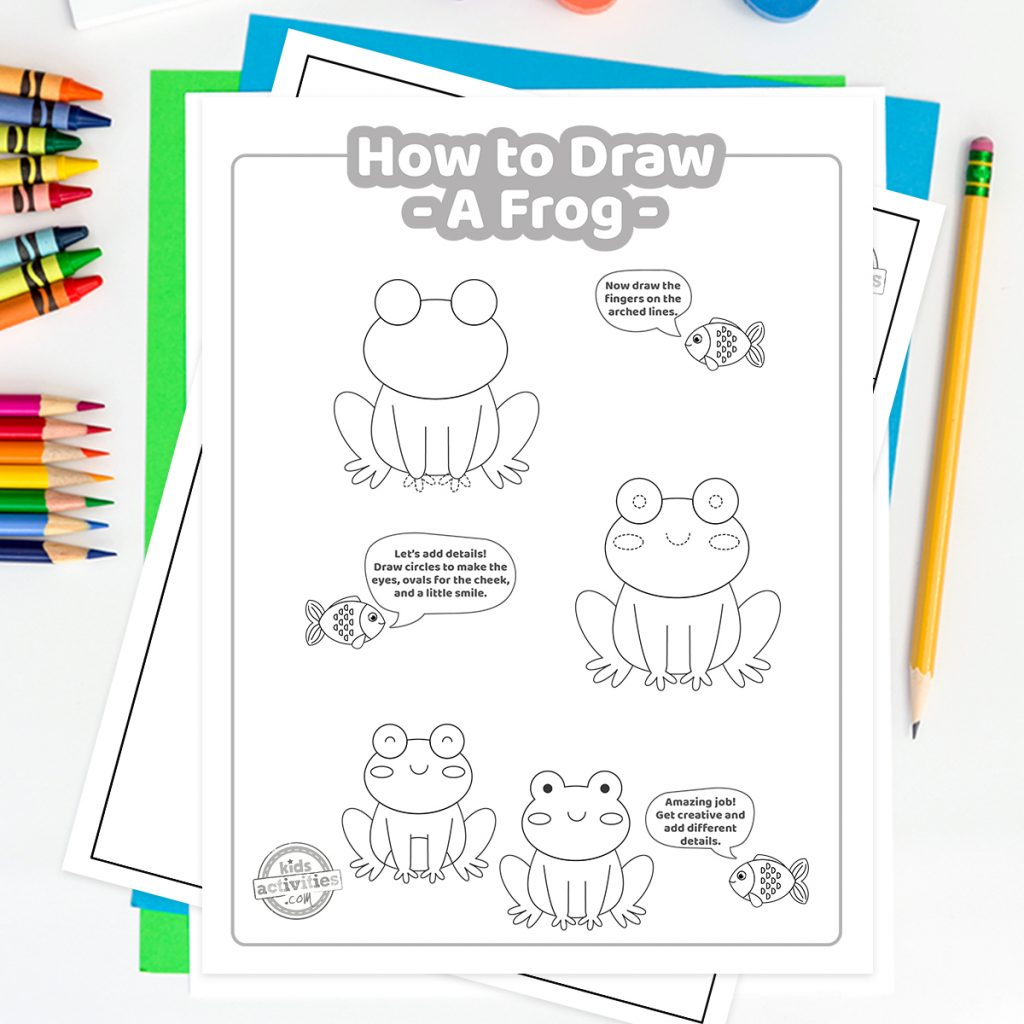 frog drawing tutorial