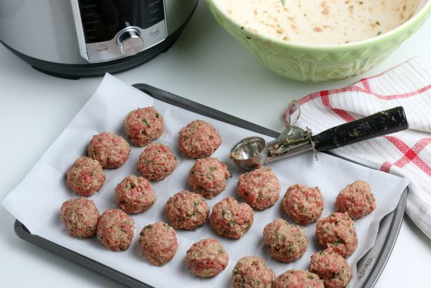 The Best Homemade Instant Pot Meatballs - Step scoop your meatballs