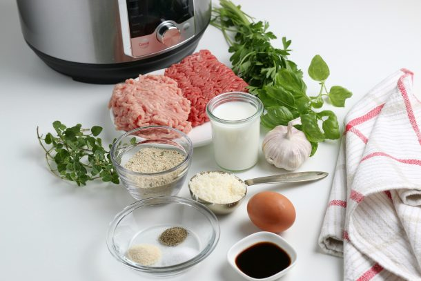 The Best Homemade Instant Pot Meatballs - ingredients