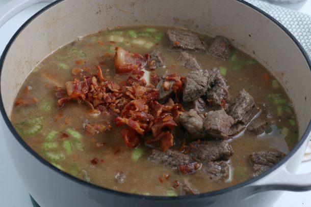 Easy Irish Beef Stew Recipe - Step return beef and potatoes to pot
