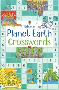 Usborne Planet Earth crossword puzzle book cover art