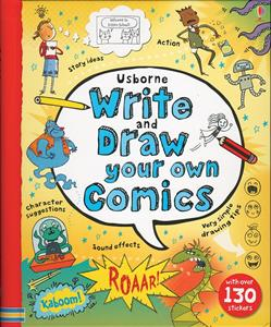Usborne write and draw yor own comics book cover art