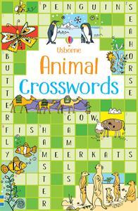 Usborne Animal Crosswords puzzle book cover art