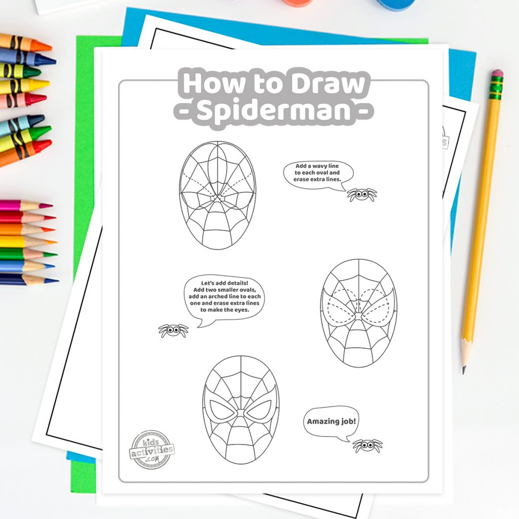 how to draw spiderman step by step