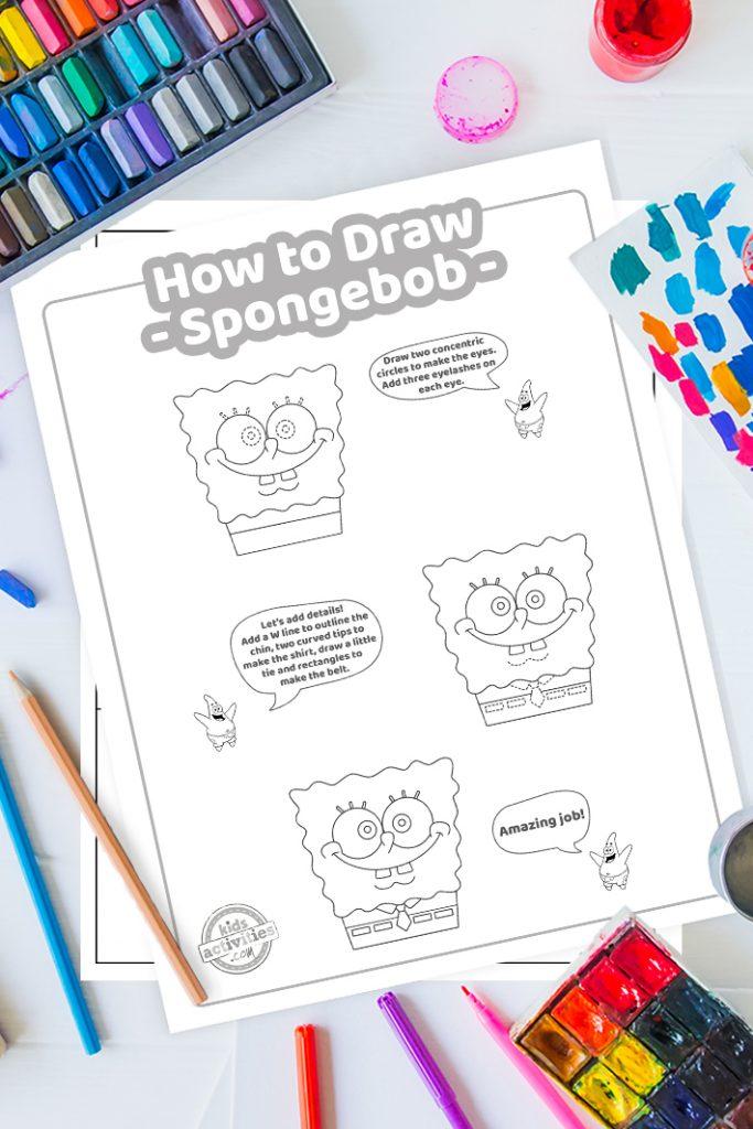 how to draw spongebob easy