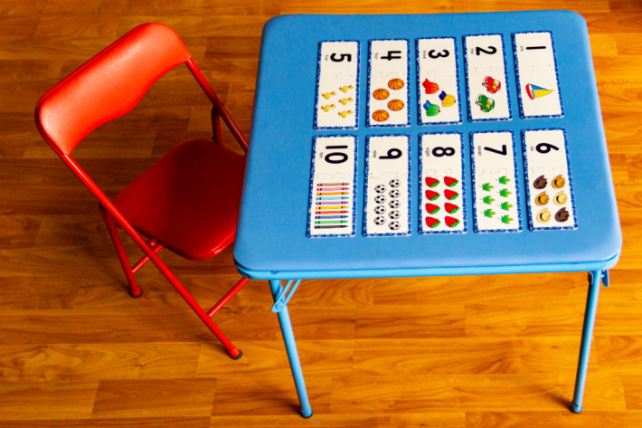 Number Flash cards for kids on a table - Kids Activities Blog