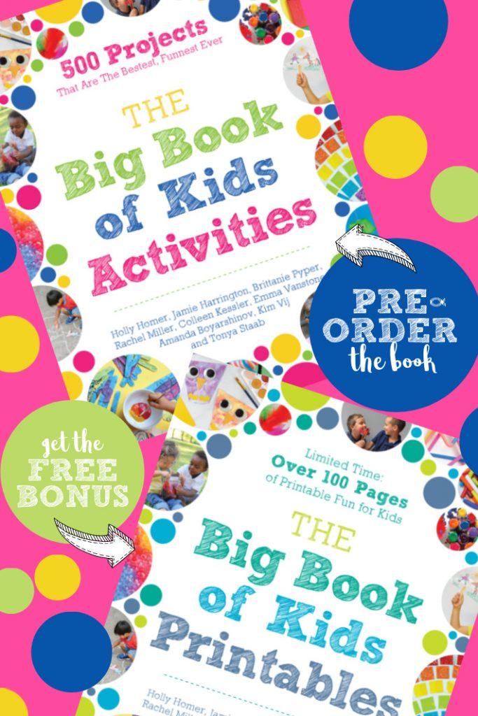 The Big Book of Kids Activities (couverture) - précommandez le livre et obtenez gratuitement le bonus gratuit de The Big Book of Kids Printables