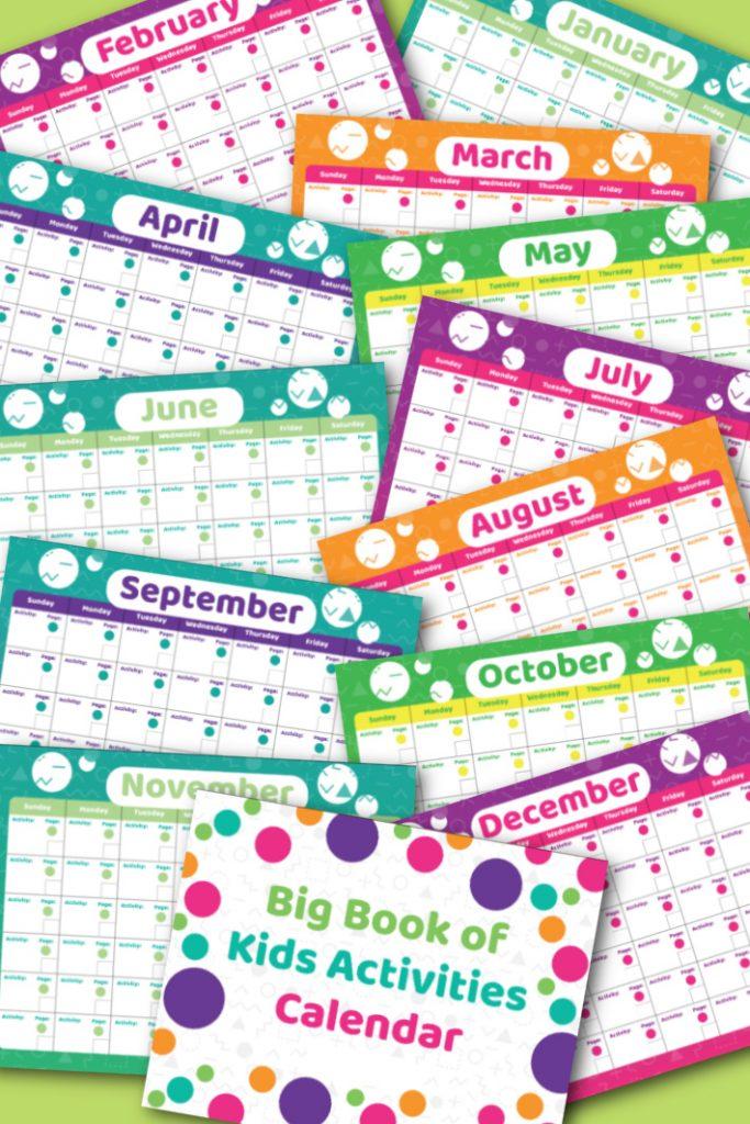 Le calendrier des activités du grand livre des enfants pdf - 12 mois illustré avec la couverture