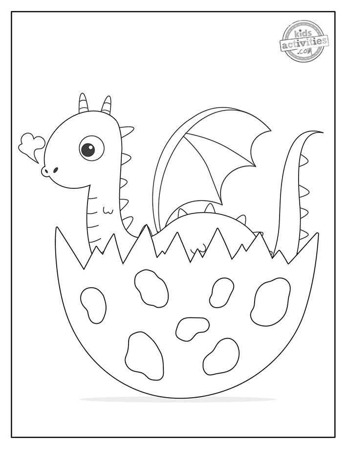 Baby dragon coloring pages for free