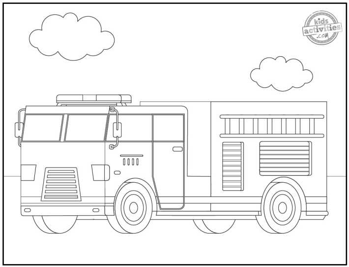 Dibujos de camiones de bomberos para colorear