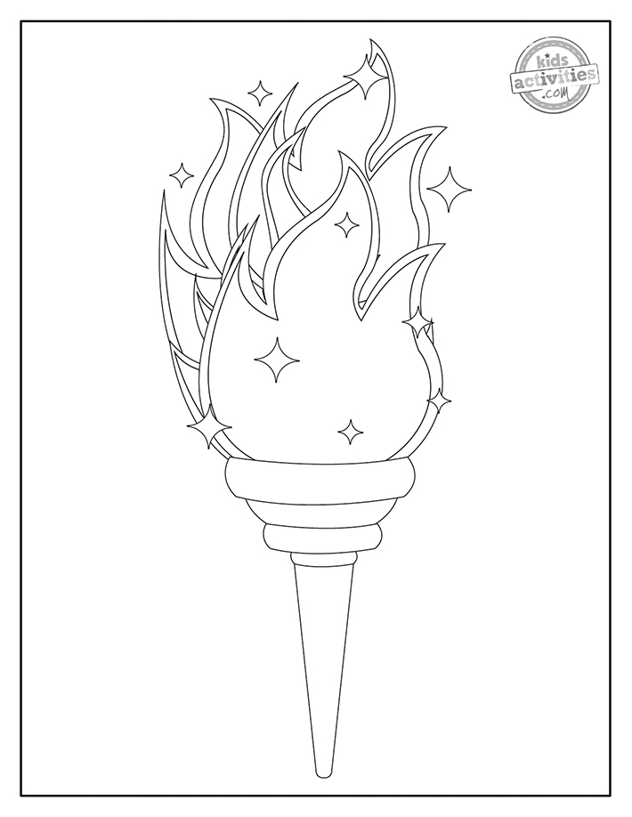 Olympic Games Coloring Page screenshot