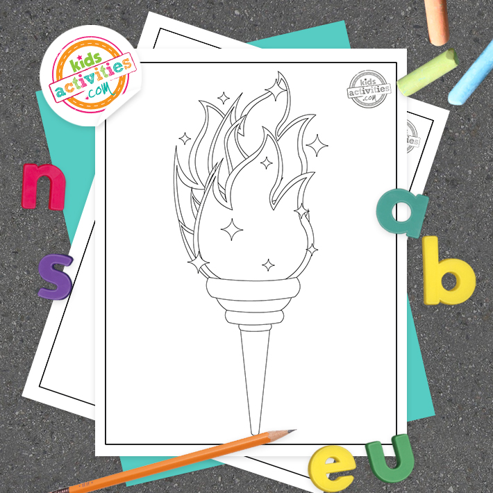 Olympic Coloring Page Square