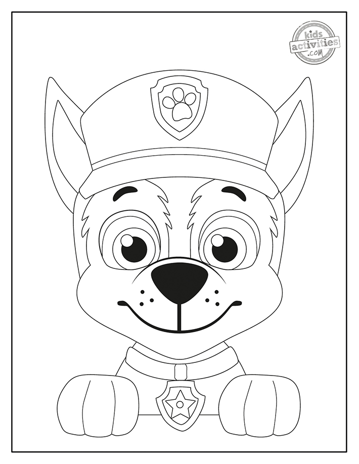 hunting paw patrol coloring pages
