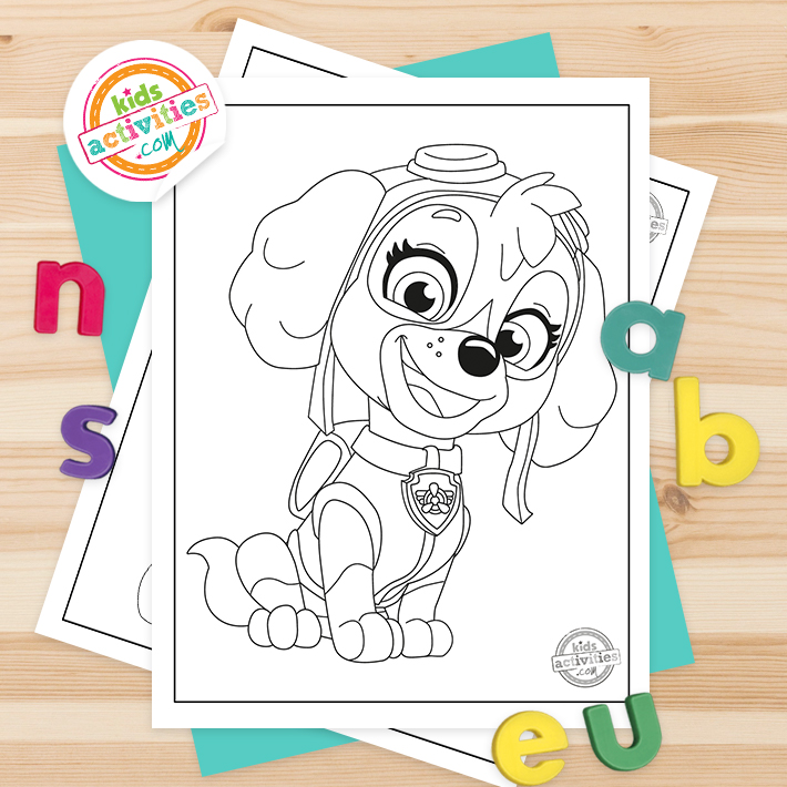Paw patrol for coloring