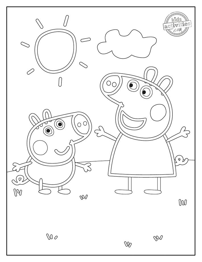 Peppa Pig Coloring Pages Screenshot