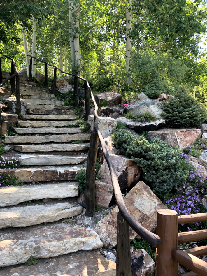 Betty Ford Alpine Gardens in Vail Colorado - Kids Activities Blog - Rock stairs and Alpine gardens