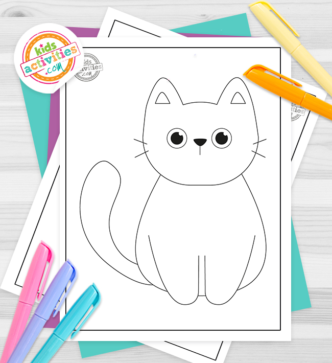 black cat coloring pages