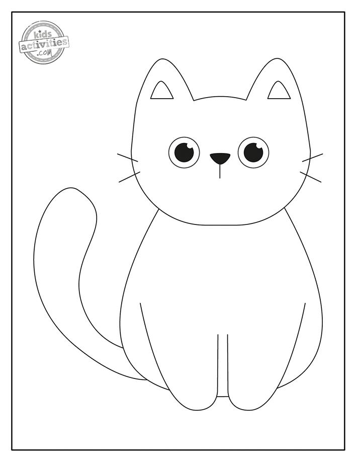 Black Cat Coloring Pages Screenshot