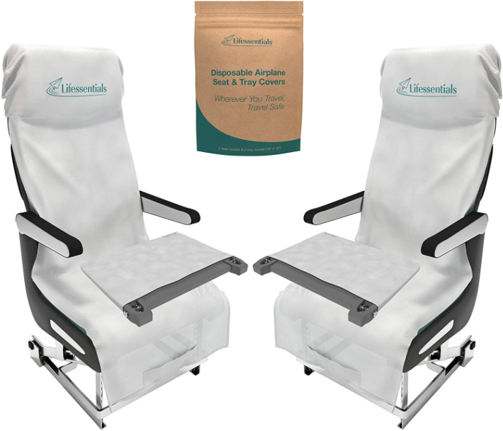 Disposable Airplane Seat Covers image from Amazon