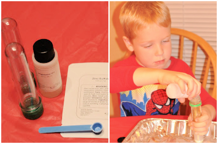 Homemade glow stick supplies and steps to create glow stick - Kids Activities Blog