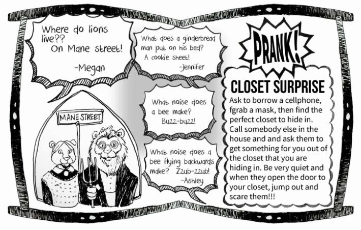 Lions live on the Mane Street joke with bee jokes and cookie jokes - Kids Activities Blog - pdf of kids joke book