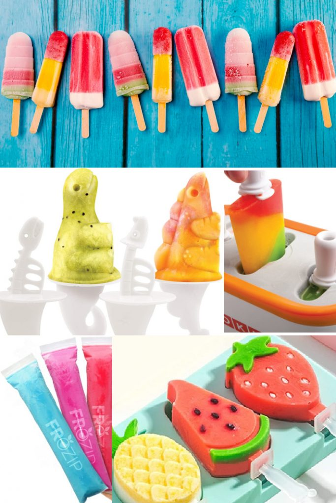 Quick Pop Makers Traditional Popsicles and More - Kids Activities Blog - 5 images of traditional popsicles, dinosaur popsicles, zoku quick pop makers, ice pop molds and shaped popsicle molds