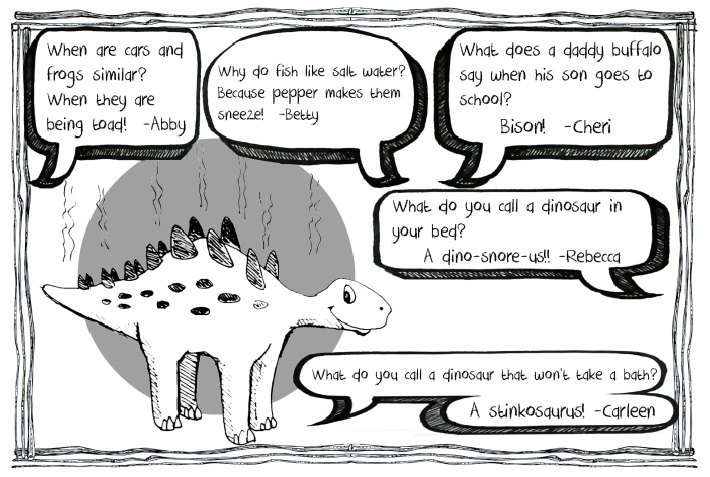 Why the dinosaur doesn't take a bath joke and others from the Kids Activities Blog eBook of Jokes for Children pdf