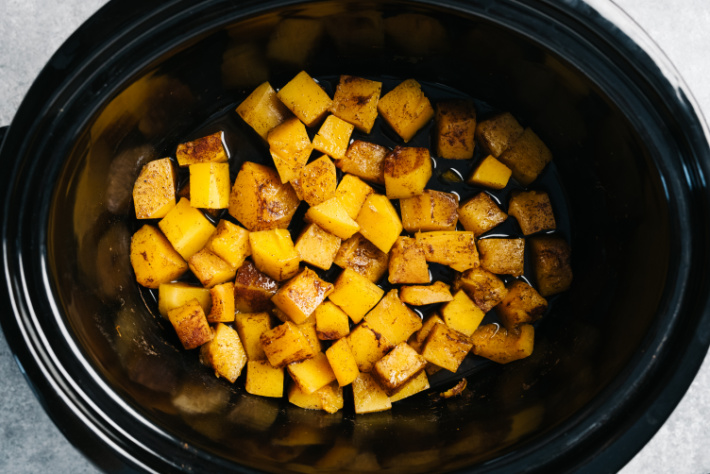Butternut Squash in a Crockpot for Slow Cooker Chili Recipe - Kids Activities Blog