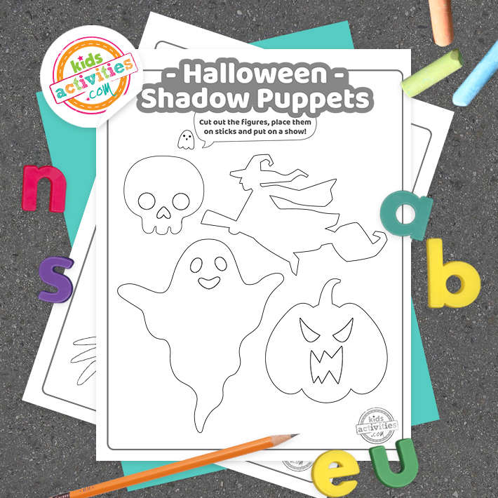 Halloween Shadow Puppets Square