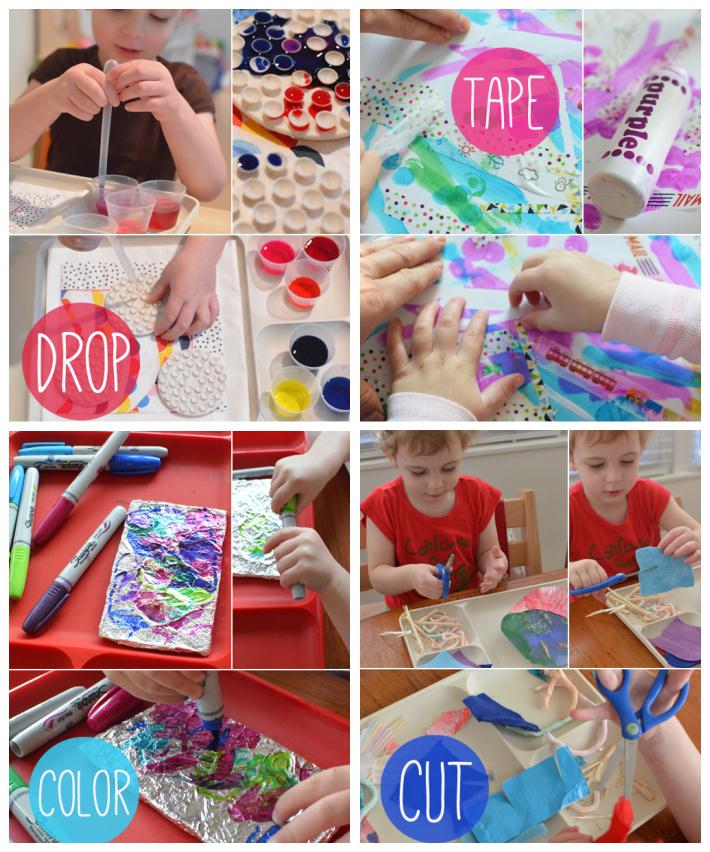 Invitations to experience process art - Meri Cherry - Kids Activities Blog