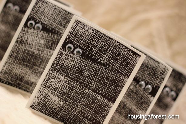 Cartes de momie fabriquées à partir d'Hébergement d'une forêt