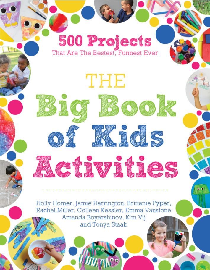 The Big Book of Kids Activities features a variation on this popular owl craft for kids - cover of book shown
