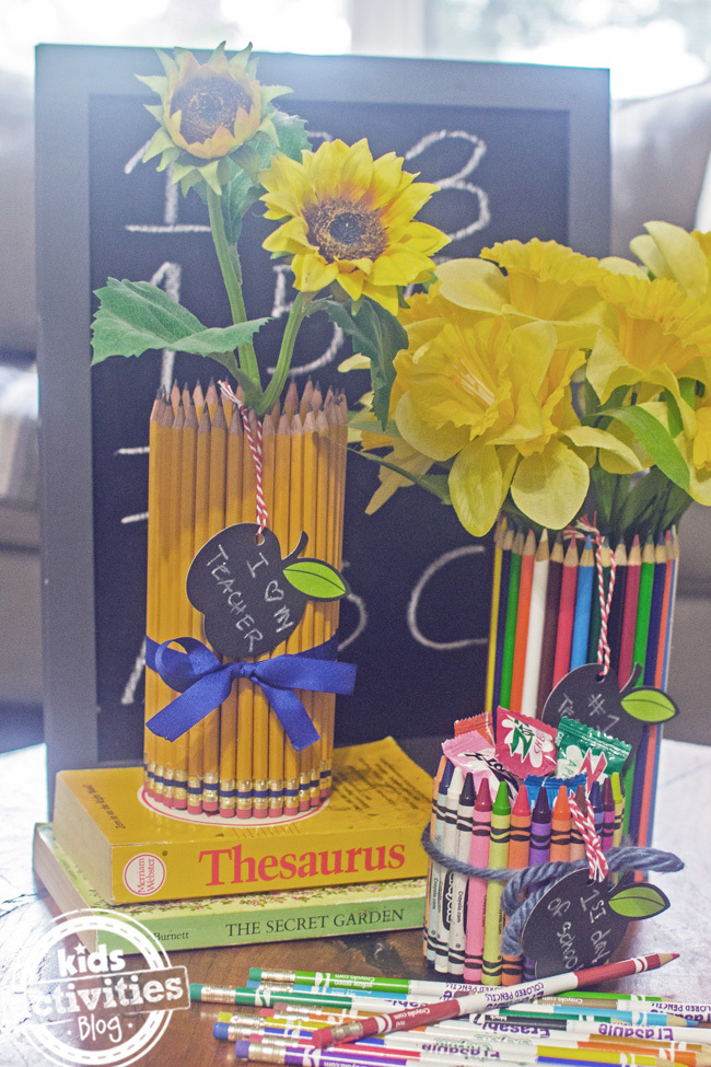 how to make a pencil holder or pencil vase