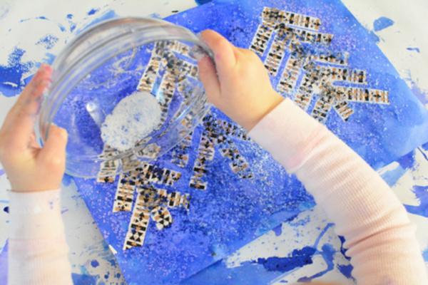 winter process art project for preschoolers from Meri Cherry - Kids Activities Blog