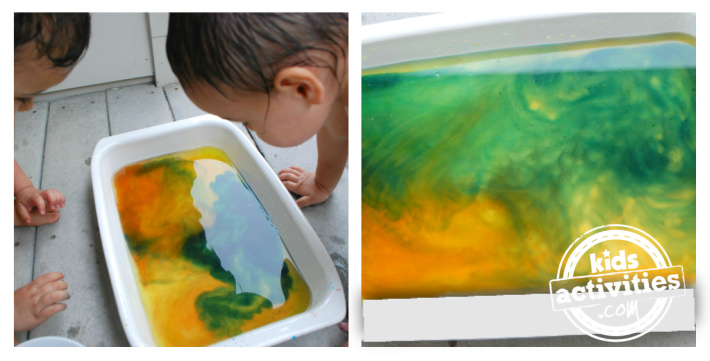 Step 2 color mixing activity for kids - Witches Brew science fun - Kids Activities Blog