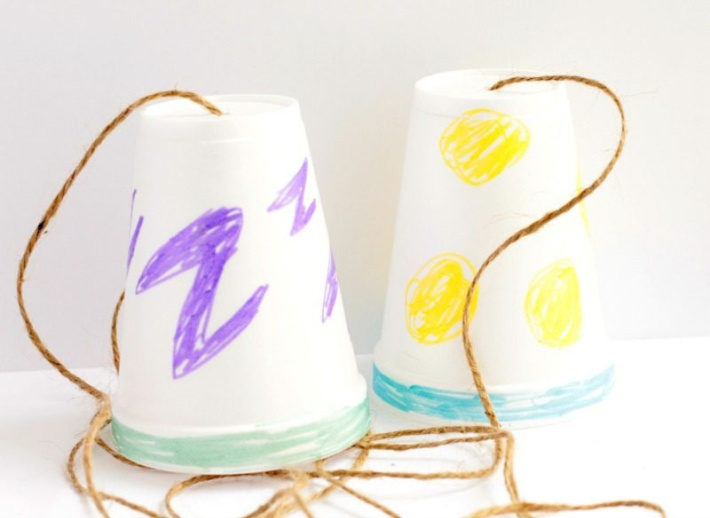 String telephone experiment for preschoolers from Raising Lifelong Lerners