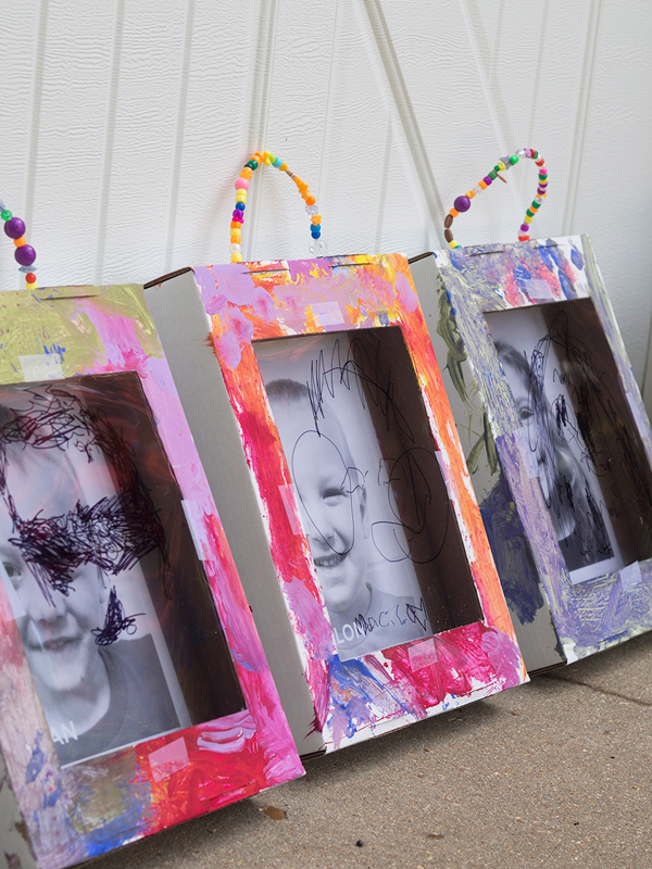 Make your own shadowboxes for kids art which are also kids art great for a gallery wall from Meri Cherry