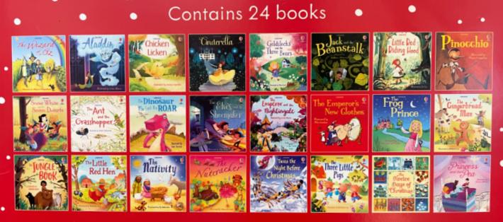 24 story books inside the book advent calendar - Kids Activities Blog