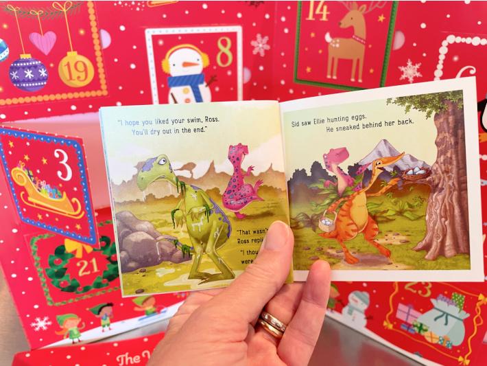 Inside the daily advent calendar books - Kids Activities blog